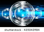 blue abstract light hi speed... | Shutterstock .eps vector #435043984