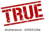 true stamp.stamp.sign.true. | Shutterstock .eps vector #435051346