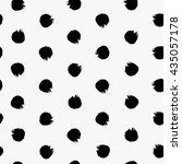 Hand Drawn Polka Dot Seamless...