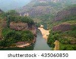 scenic landscape of wuyi... | Shutterstock . vector #435060850