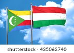 comoros flag with hungary flag  ... | Shutterstock . vector #435062740