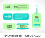 vector stickers  price tag ... | Shutterstock .eps vector #435067120
