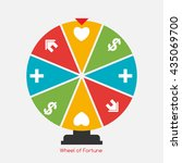wheel of fortune  lucky icon... | Shutterstock .eps vector #435069700
