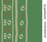 seamless   vertical   pattern... | Shutterstock .eps vector #435069970