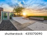 park at roof top of relax coner ... | Shutterstock . vector #435070090