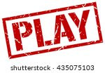 play stamp.stamp.sign.play. | Shutterstock .eps vector #435075103