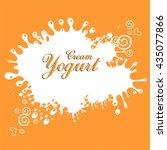 cream yogurt.  illustration   Shutterstock . vector #435077866
