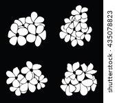 frangipani silhouettes for... | Shutterstock .eps vector #435078823