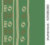 seamless   vertical   pattern... | Shutterstock . vector #435080380