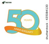 50th years anniversary label... | Shutterstock .eps vector #435084130