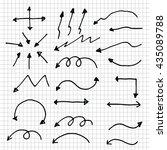 arrow marker set | Shutterstock .eps vector #435089788