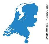 blue map of netherlands | Shutterstock .eps vector #435090100