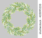 isolated watercolor wreath with ... | Shutterstock . vector #435095233