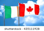 ireland flag with canada flag ... | Shutterstock . vector #435111928