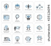 flat design icons set. business ... | Shutterstock . vector #435126094