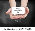 world population day written on ...