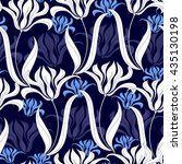 seamless pattern with white... | Shutterstock .eps vector #435130198