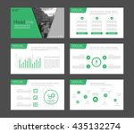set of green infographic... | Shutterstock .eps vector #435132274