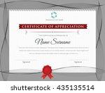 certificate design template.... | Shutterstock .eps vector #435135514