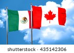 mexico flag with canada flag ... | Shutterstock . vector #435142306