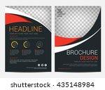 brochure template flyer design...   Shutterstock .eps vector #435148984
