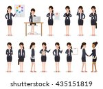 set of working people on white... | Shutterstock .eps vector #435151819