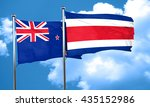 new zealand flag with costa... | Shutterstock . vector #435152986