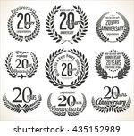 laurel wreath retro vintage... | Shutterstock .eps vector #435152989