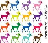 deer clipart | Shutterstock .eps vector #435154363