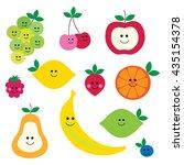 fruit faces | Shutterstock .eps vector #435154378