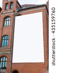 blank billboard canvas on brick ... | Shutterstock . vector #435159760