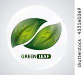 green design. leaf icon. white... | Shutterstock .eps vector #435160369