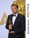 Small photo of LOS ANGELES, CA - FEBRUARY 28, 2016: Leonardo DiCaprio at the 88th Academy Awards at the Dolby Theatre, Hollywood.