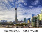the toronto city center with... | Shutterstock . vector #435179938