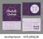 beautiful wedding set ... | Shutterstock .eps vector #435180628