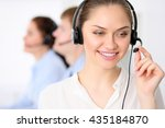 call center operators. young... | Shutterstock . vector #435184870