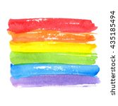 rainbow texture  symbol of gay... | Shutterstock .eps vector #435185494