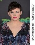 "Small photo of LOS ANGELES, CA - FEBRUARY 17, 2016: Ginnifer Goodwin at the premiere of Disney's ""Zootopia"" at the El Capitan Theatre, Hollywood."