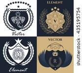 luxury logo set best selected...   Shutterstock .eps vector #435195754