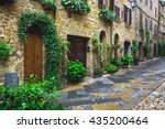 flowery streets on a rainy... | Shutterstock . vector #435200464
