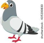 cute pigeon cartoon | Shutterstock .eps vector #435200830