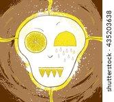 extreme cooking. lemon skull. | Shutterstock .eps vector #435203638