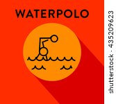 modern waterpolo icon with...   Shutterstock .eps vector #435209623