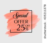 sale special offer 25  off sign ... | Shutterstock .eps vector #435211378