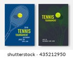 tennis tournament poster design ... | Shutterstock .eps vector #435212950