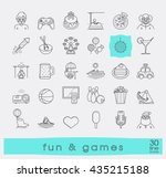 set of premium quality line fun ... | Shutterstock .eps vector #435215188