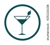 cocktail glass   olive   icon   ... | Shutterstock .eps vector #435226108