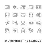 simple set of mail related... | Shutterstock .eps vector #435228328