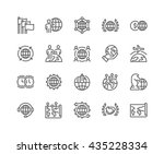simple set of global business... | Shutterstock .eps vector #435228334