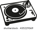 retro turntable | Shutterstock .eps vector #435229369